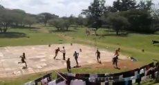 قطيع من القردة يهاجم طلاب يلعبون كرة السلة فى كينيا