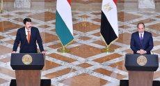 مؤتمر صحفي مشترك بين الرئيس السيسي ونظيره المجري