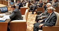 طارق الملا أثناء إلقاء كلمة الرئيس السيسى فى قمة الغاز