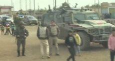القوات الروسية فى مدينة الرقة
