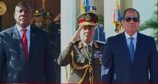 الرئيس عبد الفتاح السيسى ورئيس جنوب افريقيا