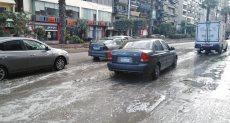مياه الأمطار في شوارع المهندسين