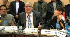 المهندس خالد الفقى خلال المؤتمر