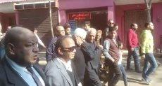 تشييع جنازة شقيقة مرتضى منصور بقرية بشالوش فى الدقهلية