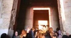 الشمس تتعامد على معبد قصر قارون