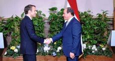 الرئيس عبد الفتاح السيسى و الرئيس إيمانويل ماكرون