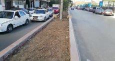 إزالة المسطحات الخضراء بشارع محى الدين
