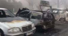 حرق سيارات