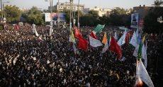 آلاف الإيرانيين يشيعون جثمان قاسم سليمانى بمدينة الأهواز