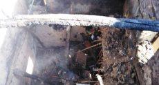 جانب من اثار الحريق