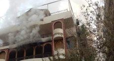 فيلا إيهاب توفيق بعد إطفاء الحريق فيها