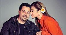 أصالة نصرى مع زوجها السابق المخرج طارق العريان