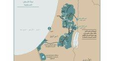 خريطة فلسطين برؤية ترامب