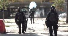 اشتباكات الشرطة والطلاب