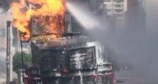 حرق مدرعة شرطة فى كولومبيا