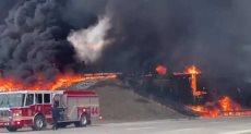 حريق صهريج الوقود