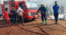 إخماد حريق هائل