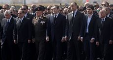 الرئيس عبد الفتاح السيسي في جنازة الرئيس الأسبق محمد حسني مبارك