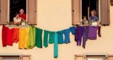 قوس قزح من الملابس
