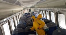 تعقيم القطارات ضد فيروس كوورنا