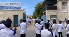 الشرطة الصومالية تعزف الموسيقى
