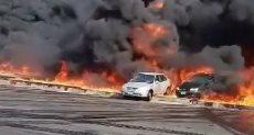 حريق خط الخام شقير - مسطرد