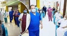 الفريق الطبى بمستشفى الحجر بإسنا