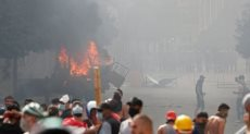 مواجهات بين متظاهرين وقوات الأمن اللبناني