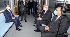 الرئيس عبد الفتاح السيسي داخل محطة مترو عدلي منصور