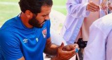 مروان محسن أثناء إجراء التحليل