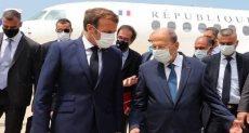 الرئيس الفرنسى فى بيروت -أرشيفية