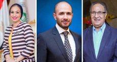 الدكتور محمد العزازى و خالد الطوخى والدكتورة ياسمين الكاشف
