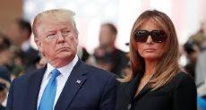 الرئيس الامريكي دونالد ترامب وزوجتة
