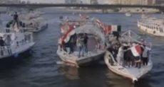 مشاهد من احتفالات المصريين بنصر أكتوبر ودعم الرئيس السيسي