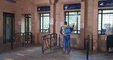 تعقيم محطات السكة الحديد