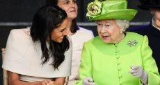 الملكة إليزابيث وميجان ماركل