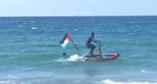 الدراجة المائية فى بحر غزة
