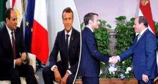 الرئيس عبد الفتاح السيسى فى لقاء سابق مع الفرنسى إيمانويل ماكرون