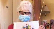 أنجلينا فريدمان خلال احتفالها بعيد ميلادها 102