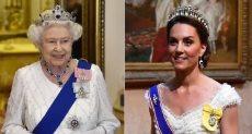 الملكة إليزابيث الثانية وكيت ميدلتون