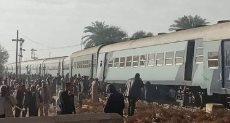 خروج قطار ركاب عن القضبان