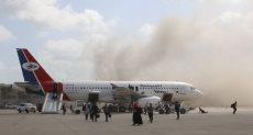 لحظة الهجوم على مطار عدن