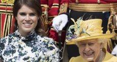 الملكة إليزابيث والأميرة اوجينى