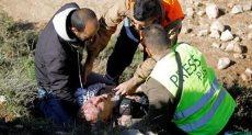 إصابه فلسطينى
