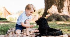 الأمير جورج مع الكلب الراحل لوبو