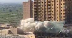 تفجير عقار فيصل المحترق بالديناميت