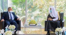 لقاء امين عام رابطة العالم الاسلامى مع رئيس المجلس الاسلامى الاسبانى