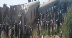 حادث تصادم قطارين بطريق طهطا