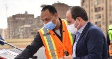 الرئيس السيسى يتفقد تطوير الطرق بالقاهرة
