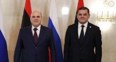 رئيس الحكومة الليبية الجديدة عبد الحميد الدبيبة يلتقى رئيس وزراء روسيا
